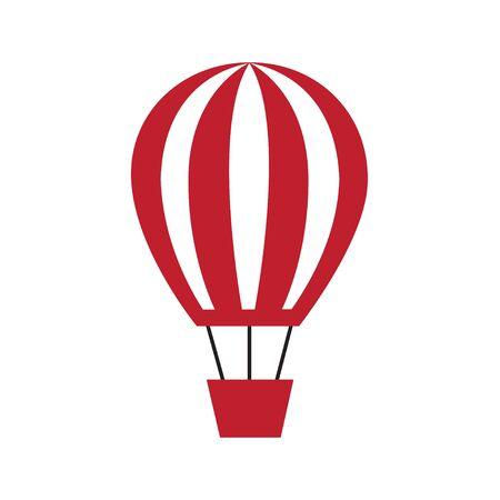 Hot air balloon icon black silhouette flat design style symbol vector illustration eps