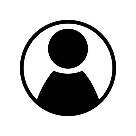 User man avatar icon profile symbol isolated for web