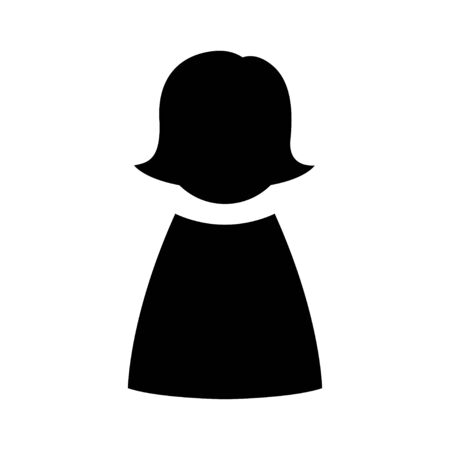 User woman avatar icon profile symbol isolated for web 向量圖像