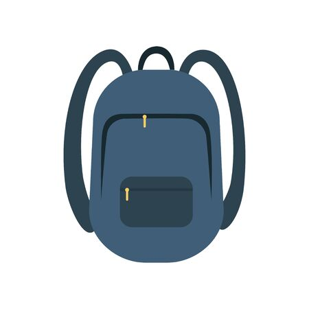 Backpack icon flat vector illustration isolated