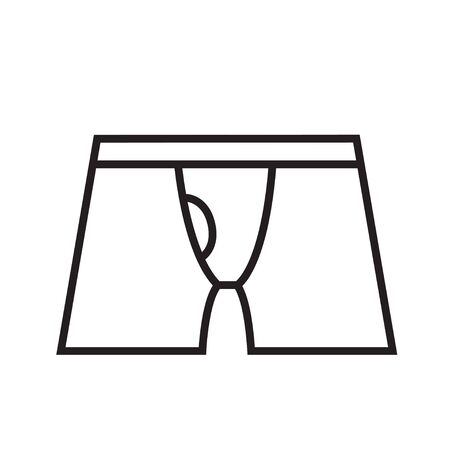 outline underwear icon isolated vector illustration stroke
