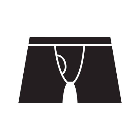 Underwear vector icon black silhouette vector illustration 向量圖像