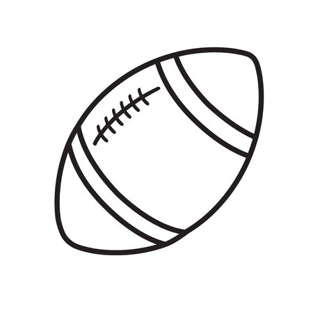 Rugby ball line icon isolated on a white isolated 版權商用圖片 - 144011975
