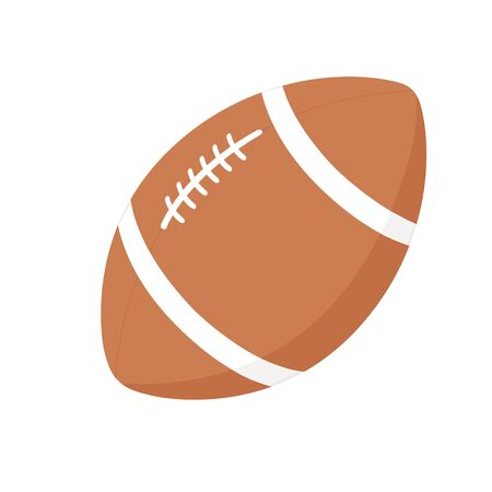 Rugby american football ball icon vector illustration isolated eps 10
