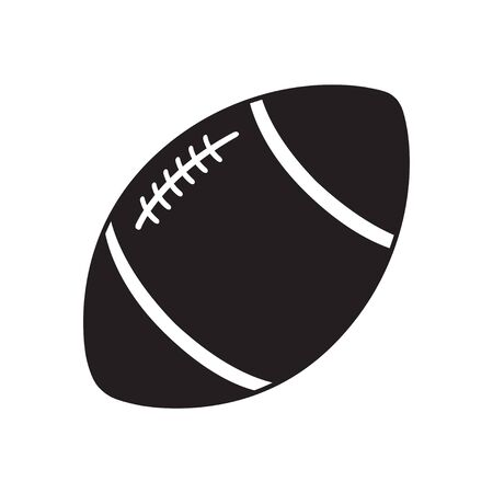 Rugby and football ball isolated on a white