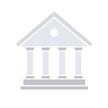 bank icon courthouse, library, government city hall, vector illustration banking icon