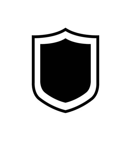shield icon vector isolated on white background