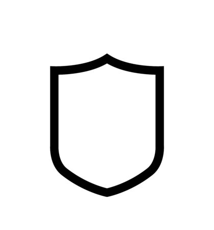 Vector shield icon protection icon isolated on white