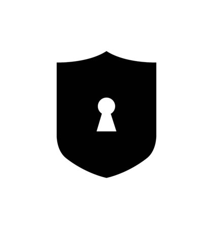 Security icon black vector isolated on white 向量圖像