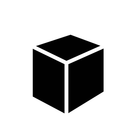 cube black icon vector illustration on the white background 版權商用圖片 - 147494477