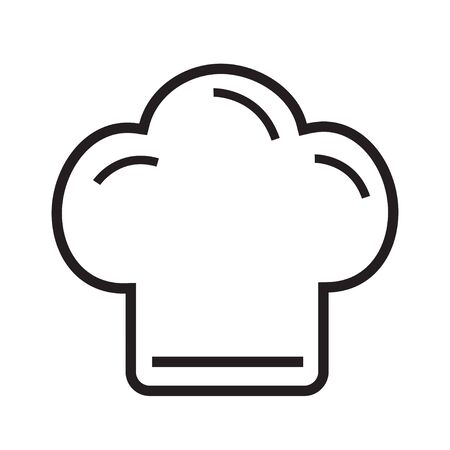 Chef hat icon line on the white background illustration vector cooking hat 版權商用圖片 - 148505611