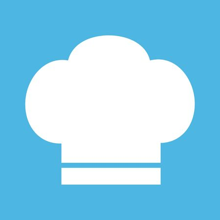 Chef icon hat on the white background illustration vector cooking hat