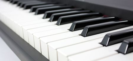Piano with ivory and ebony keays photo