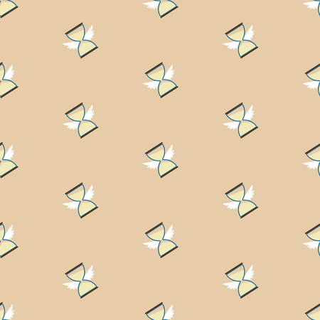 Seamless pattern with hourglass . Cartoon illustration of hourglass pattern for web and printing Çizim