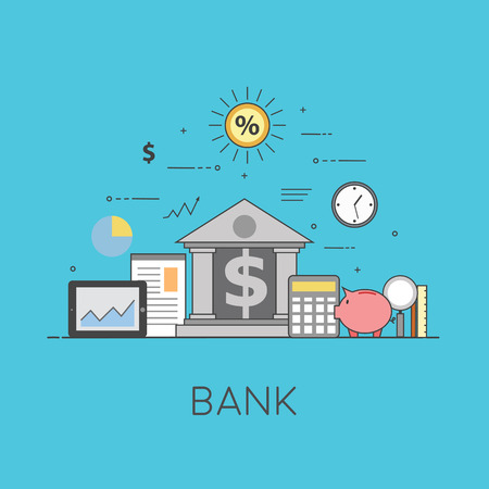 Banking and business. Financial market. Secure transactions and payments protection, the guarantee security of financial deposits, transactions and savings deposits