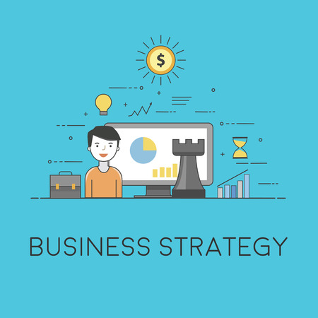 Business strategy. Digital technologies. Charts and reports
