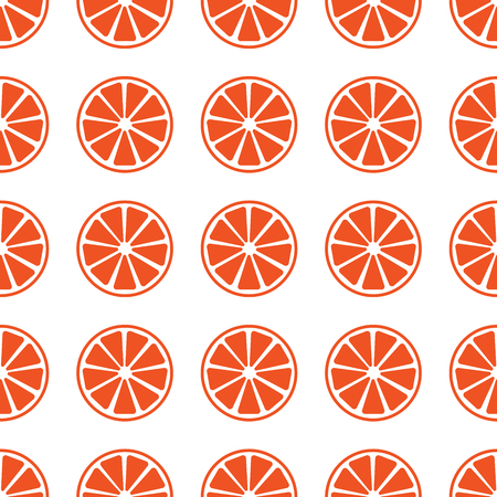 Seamless pattern with orange slices vector illustration