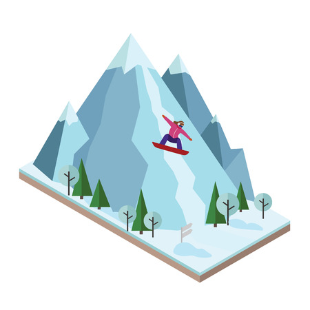 Flat 3d vector isometric illustration. Concept picture Illustration