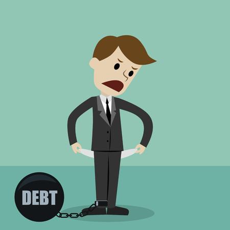Zakenman en manager. Geld verdienen. Cartoon vectorillustratie Stockfoto - 93833211