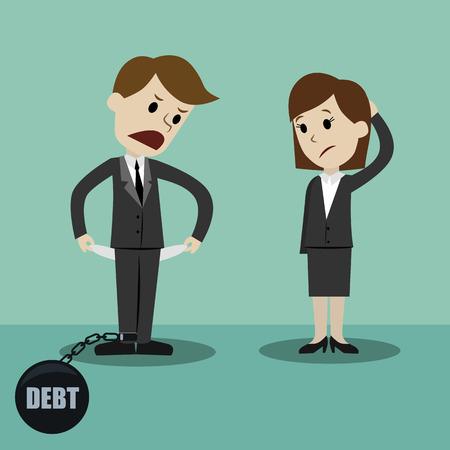 Homme d'affaires et manager. Faire de l'argent. Cartoon Illustration Vecteur