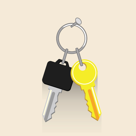set of keys Flat vector illustration. Concept picture for business Stock Illustratie