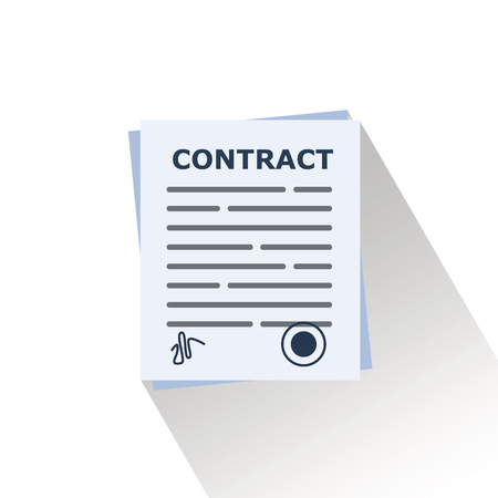 contract document vector.