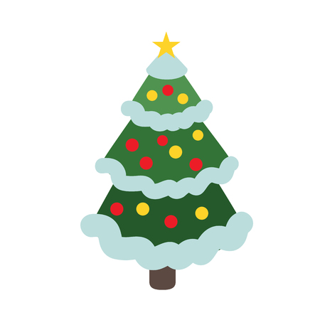 Vector isolated cristmas tree