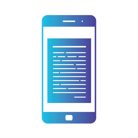 Opening of an incoming email to a smartphone. E-mailing, spam, e-commerce. Isolated gradient blue icon on white background Stock Photo