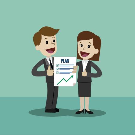 Negocios y Finanzas. Clipart de ilustración de vector de estilo plano.