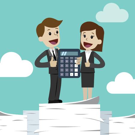 Negocios y Finanzas. Plano, estilo, vector, ilustración clipart