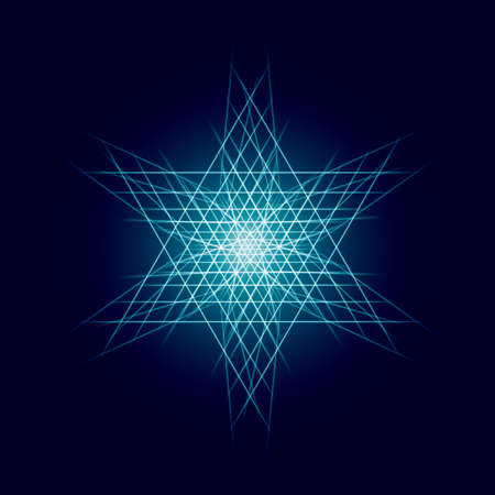 strip structure: Energy power bright burst star space explosion pattern geometrical abstract light background blue. Vector illustration