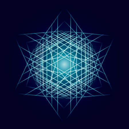star power: Energy power bright burst star space explosion pattern geometrical abstract light background blue. Vector illustration