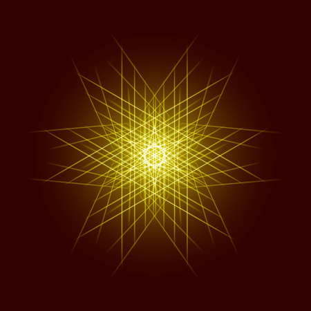 explosion: Energy power bright burst star space explosion pattern geometrical abstract light background gold. Vector illustration Illustration