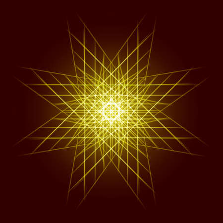 strip structure: Energy power bright burst star space explosion pattern geometrical abstract light background gold. Vector illustration Illustration