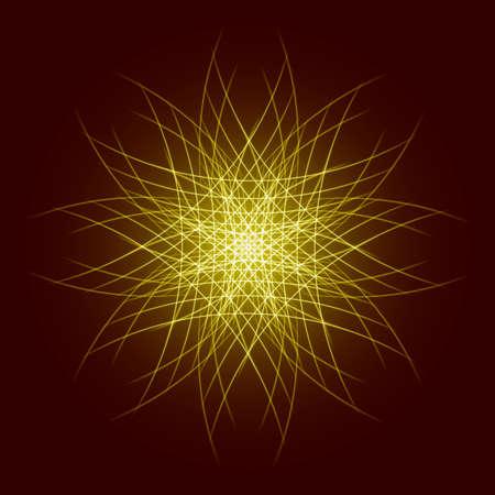 star power: Energy power bright burst star space explosion pattern geometrical abstract light background gold. Vector illustration Illustration