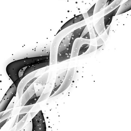 contrast: Abstract wave modern layout with fresh white black contrast swoosh line with splashes. Vector illustration