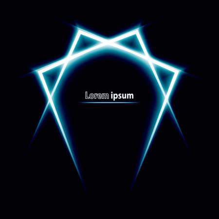 brutal: Blue glitter abstract brutal futuristic simple logo. Vector illustration Illustration