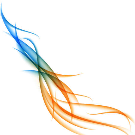 elegant white: Colorful swooshes abstract background. Vector illustration.