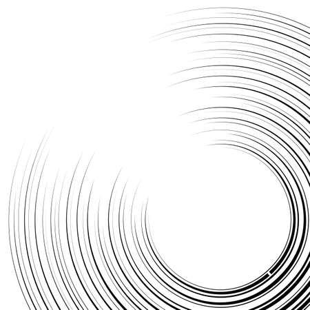 graphic novel: curved speed lines background. Vector illustration