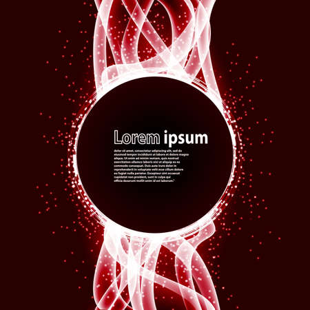 luxurious: red glitter party poster abstract layout with circle surrounded by flare shimmering particle luxurious pattern. Vector illustration