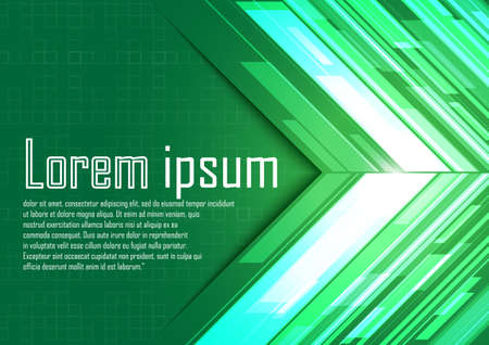 green arrows: Abstract green arrows with light. Vector illustration