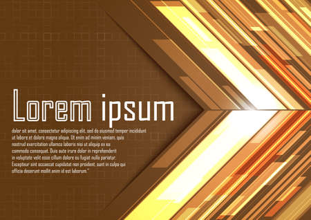 light brown: Abstract brown arrows with light. Vector illustration Illustration