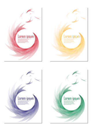 yelow: Set of four Abstract vector backgrounds. Vector illustration