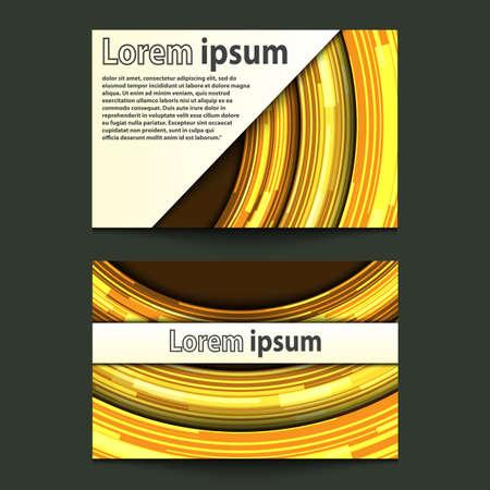 gold circle: Business Card Design Neon gold circle. Vector illustration Illustration