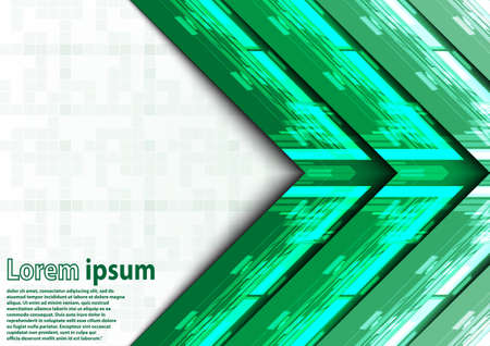verde y blanco: Neon green white arrow abstract background. Vector illustration Vectores