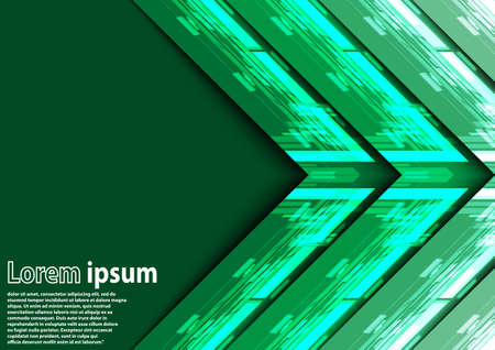 green arrow: Neon green arrow abstract background. Vector illustration