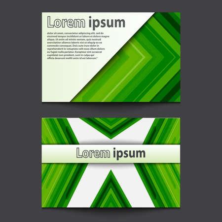 ide: Business Card Design green arrow. Vector illustration Illustration