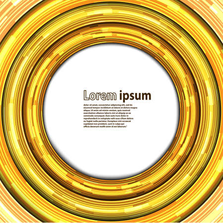 gold circle: Neon gold circle abstract background. Vector illustration