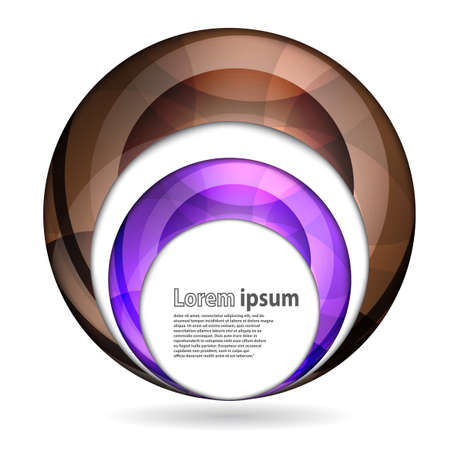 brown swirl: Abstract swirl energy brown and violet sphere futuristic frame modern hi-tech folder template. Vector illustration