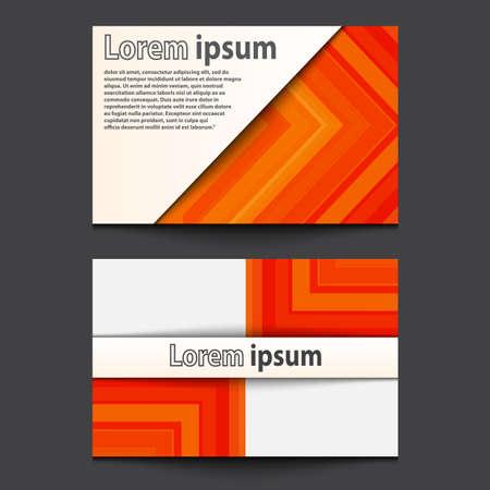 ide: Business Card Design orange arrow line abstract background. Eps 10. Vector illustration